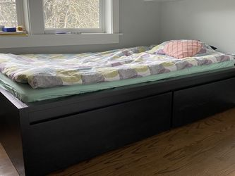 IKEA MALM Bed - Twin size with mattress! for Sale in Portland, OR
