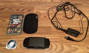 PSP with protective cover, custom headphones and final fantasy and grand theft auto. Good condition has a screen protector for Sale in Henderson, NV