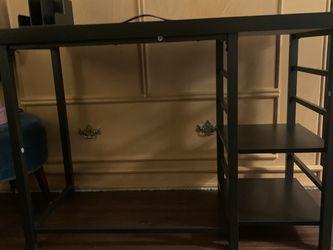Adjustable Storage Desk Black - Room Essentials Target (+Lamp) for Sale in North Hollywood, CA