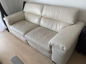 Natuzzi Edition Italian couch original price $2500. Real white leather. for Sale in Miami, FL