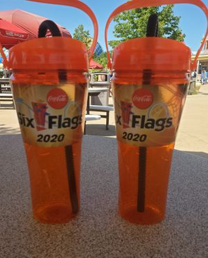 2 brand new great America 6 flags 2020 all you can drink year round cups good for this year and into next for Sale in Morton Grove, IL