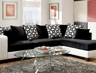 Black And White Sectional Sofa Couch !! Brand New for Sale in Chicago,  IL