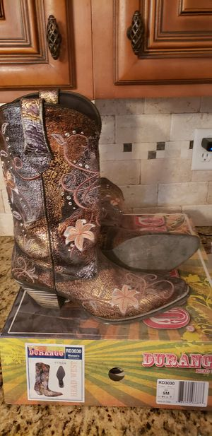 Durango western boots 9 for Sale in Trinity, TX