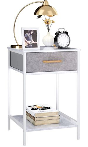 1 Nightstand, End Table Side Table with Drawer, Shelf Dresser Storage Organizer and Open Shelf for Sale in HALNDLE BCH, FL