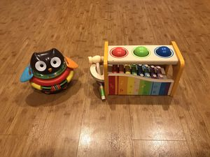 Rocking Owl Stacking Toy & Wooden Musical Xylophone Toy for Sale in Chula Vista, CA