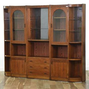 Very functional walll unit storage drawers shelves three sections mid century for Sale in San Diego, CA