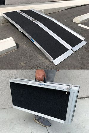 """New $115 Non-Skid 5' ft Aluminum Portable Wheelchair Scooter Mobility Folding Ramp (60x28"""") for Sale in South El Monte, CA"""