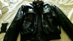 Men's med to large first gear motorcycle leather jacket.made by hein gericke. for Sale in Wheeling, IL