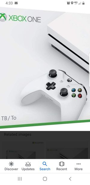 Xbox one s with 4 games for Sale in Sumner, WA