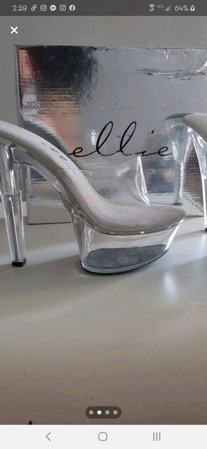 "7"" clear platform Body building competition shoes. Platform heel. Never used. Ellie brand Size 9 for Sale in South Salt Lake, UT"