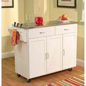 Extra Large Kitchen Cart Wood/Stainless Top for Sale in Pittsburgh, PA