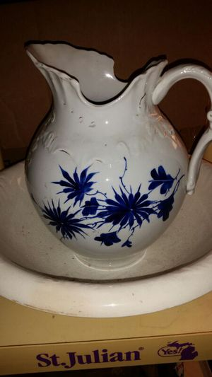 100 year old bone china pitcher and bowl for Sale in Grosse Pointe Park, MI