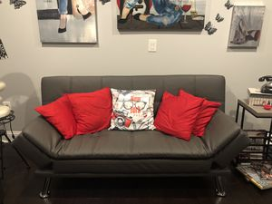 New leather futon sofa for Sale in Columbia, SC