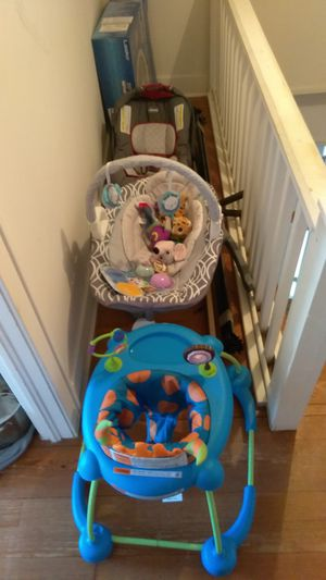 Baby stuff cribs car seats walkers and more for Sale in Fairfax, VA
