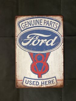 Ford Vintage Antique Collectible Tin Metal Sign Wall Decor for Sale in Fontana,  CA