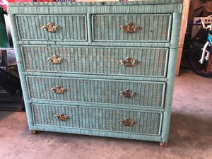 5 Drawer Wicker Chest of Drawers for Sale in Webberville, TX