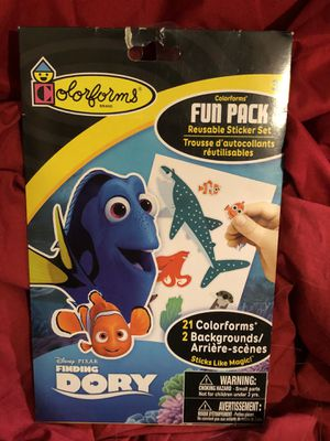 Disney Colorforms reusable sticker set 21 colorforms and 2 backgrounds! Disney Finding Nemo toy ! NIP sealed Easter Basket gift idea! for Sale in Phoenix, AZ
