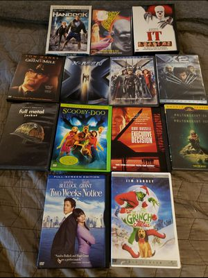 13 assorted DVDs sold together only all in mint condition work fine, read description all for $60 for Sale in Wellington, FL