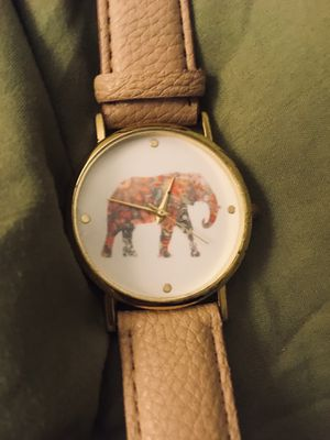 Brand New Watch, only Tried On , Elephant Image , tan faux leather Band for Sale in Clarence, IA