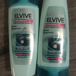 L'ORÉAL elvive extraordinary clay shampoo and conditioner set for Sale in San Bernardino, CA