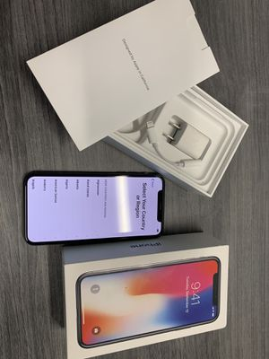 Apple iPhone X 256GB AT&T ATT *NO SHIPPING* for Sale in Long Beach, CA