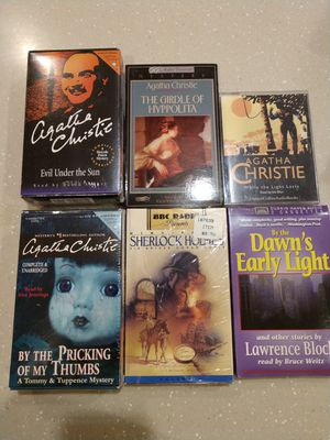 12 New Mystery Books on cassettes! for Sale in Mesa, AZ