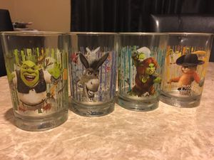 Shrek collection glasses for Sale in Chicago, IL