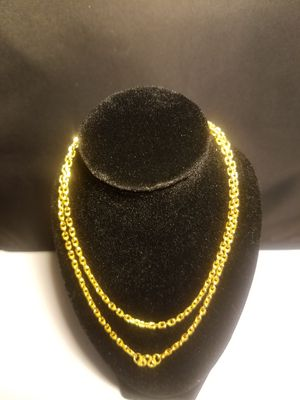 24K Solid Yellow Gold Heavy Link Chain BNWT for Sale in Silver Spring, MD