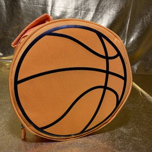 Insulated Round Thermal Lunch Cooler Basketball Zip Up Bag for Sale in San Antonio, TX