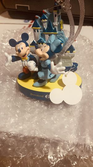 Disney 65th anniversary Mickey and Minnie figurine ornament for Sale in Queens, NY