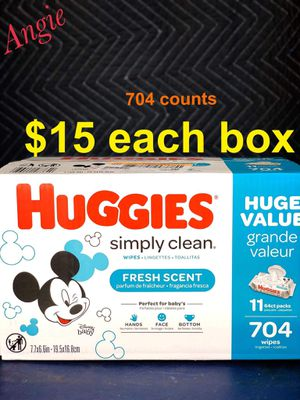 Huggies wipes - fresh scent for Sale in Downey, CA