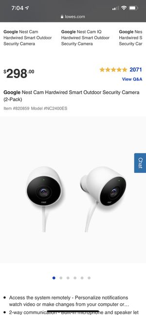 Two pack google nest cam security camera for Sale in Bridgeport, CT
