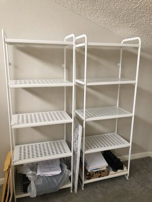 2 White Metal Shelves for Sale in Delray Beach, FL