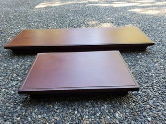 """2 Floating Shelves 24"""" and 12"""" dark brown/cherry color for Sale in Port Orchard,  WA"""