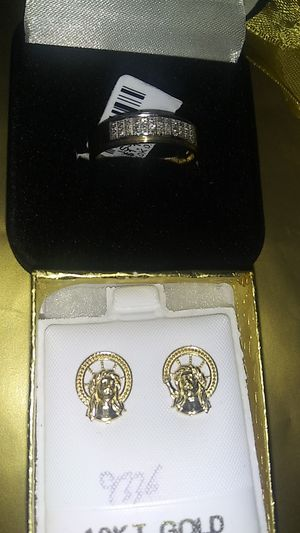 Father's Day ring and earring set! for Sale in Columbia, SC