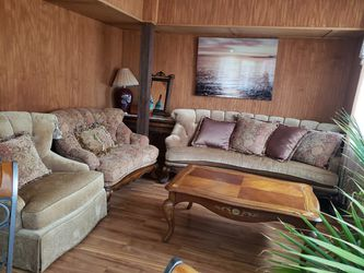 Beautiful couch, sofa, and love seat with cushions for Sale in St. Louis,  MO