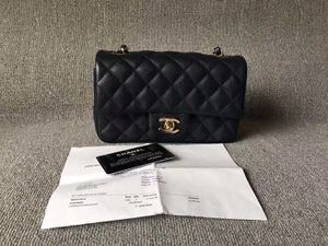 CHANEL DARK BLUE CAVIAR LARGE MINI 20CM RECTANGULAR FLAP BAG for Sale in Atlanta, GA