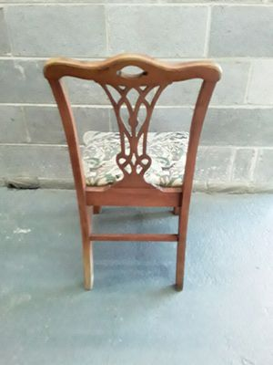 Vintage wooden chair plant stand marble top for Sale in Takoma Park, MD