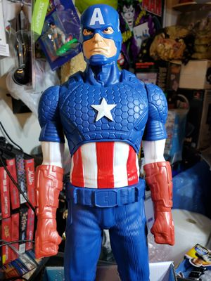 Marvel large action figure captain america 20 inches long with shield for Sale in Perris, CA