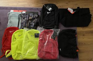 9 Nike Bags!! Duffle, Tote, Backpacks, Gym Sacks! All brand new with tags!! for Sale in Henderson, NV