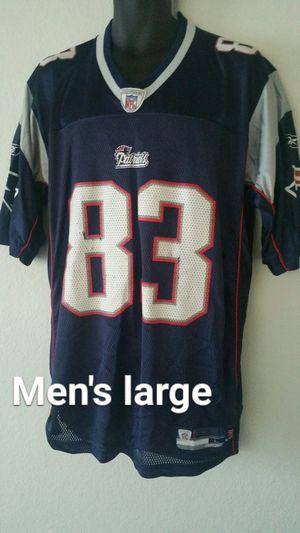 England Patriots Wes Welker men's large Jersey $15 for Sale in Las Vegas, NV