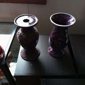 Matching Plum Purple Tara Vases for Sale in Lanham, MD