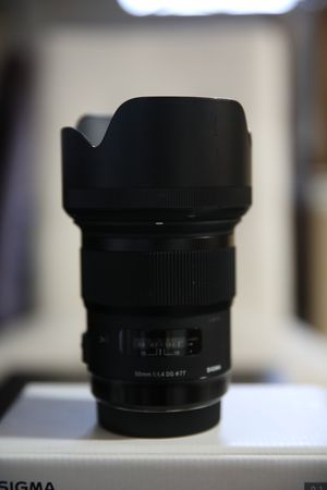Sigma 50mm f/1.4 DG HSM Art Lens for Canon EF Contains Retail Box, Caps, lense and Hood for Sale in Irving, TX