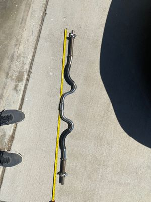 "48"" long curl bar ONLY (standard 1"" , NOT OLYMPIC) for Sale in Fontana, CA"