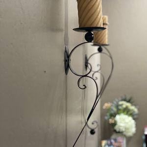 Candle Holders Wall Mount-Wrought Iron for Sale in Bakersfield, CA