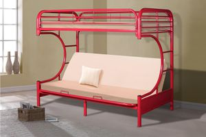 💥Furniture Sale!💥 Twin Red Futon Bunkbed Brand New In Box! $50 Down Takes It Home Today! for Sale in Newport News, VA