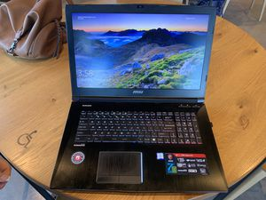 MSi Gaming Laptop i7 processor 616GB harddrive etc for Sale in Marion, IL