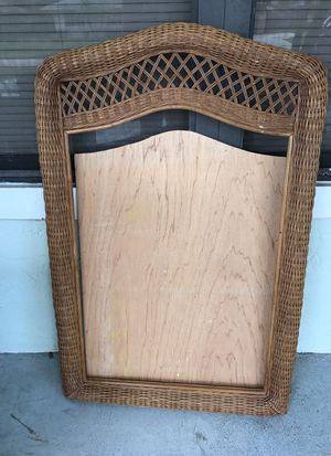 Brown wicker mirror frame for Sale in Sebring, FL