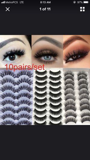 10 pieces set eyelashes for Sale in Lakeland, FL