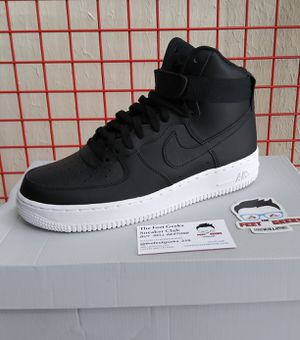 NIKE AIR FORCE 1 HIGH BLACK WHITE SIZE 8.5 US MEN SHOES NEW WITH BOX $135 for Sale in Cleveland, OH
